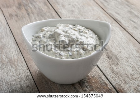 garlic sauce  - stock photo