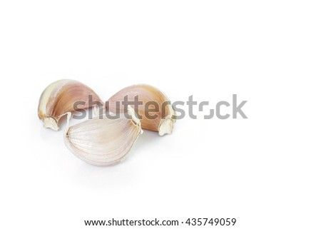 garlic vegetable ingredient on white background - stock photo