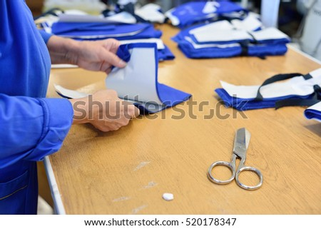 Garment Factory Working Sewing Patterns Distribution Stock Photo