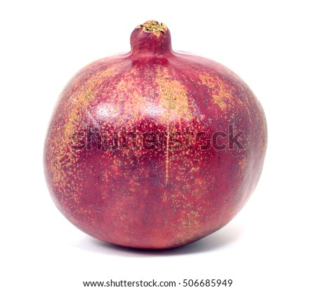 Garnet, pomegranate isolated on the white background