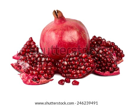 Garnet red, juicy and ripe. - stock photo