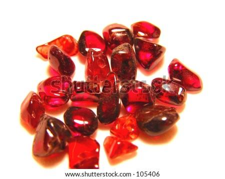 Garnet Stones - stock photo