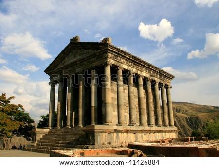 Garni temple,1-st century,armenia - stock photo