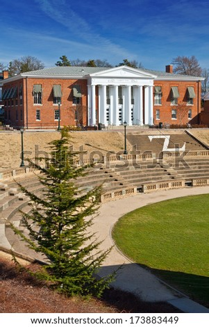 Garrett Hall, University of Virginia - stock photo