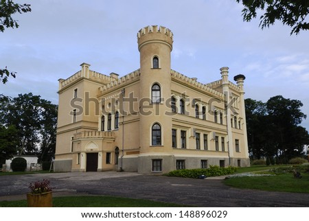 Garsene manor was built in (1856)� Neo-Gothic� style. Latvia  - stock photo