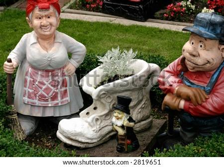 gartenzwerg garden gnome - stock photo
