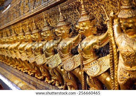 Garuda in Wat Phra Kaew, Temple of the Emerald Buddha, Grand Palace, Thailand - stock photo
