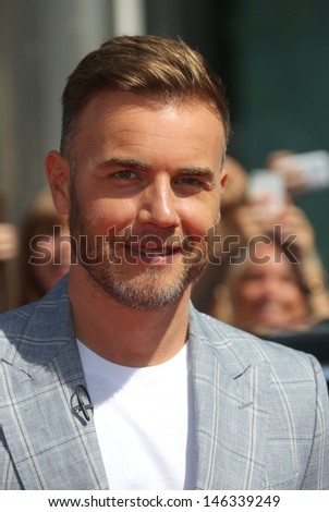 Gary Barlow at The X Factor auditions held at Wembley arena, London. 15/07/2013