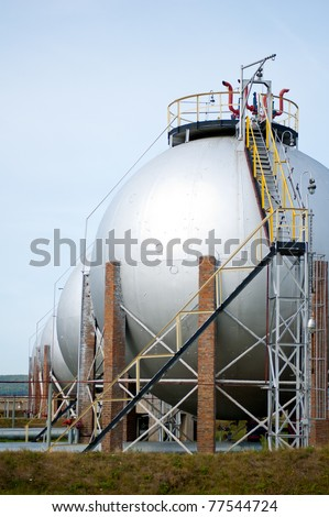 Gas and oil industry. Finished goods tanks. - stock photo