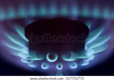 Gas background - stock photo