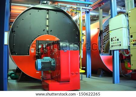 Gas boiler  - stock photo