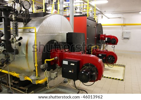 Gas boilers - stock photo