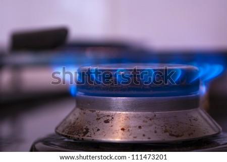 Gas Burner Ring - stock photo