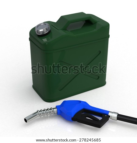 Gas can and nozzle