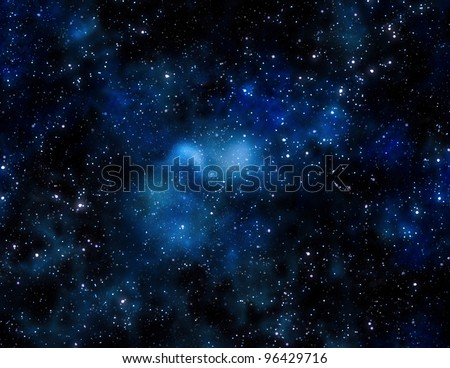 gas cloud in deep outer space - stock photo