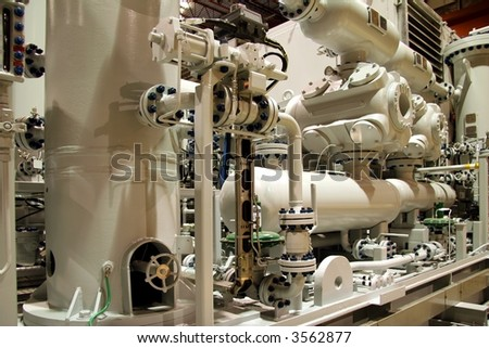 Gas compressor - stock photo