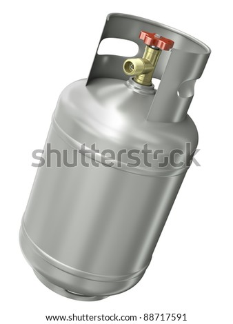 Gas container isolated on white background. 3D render. - stock photo