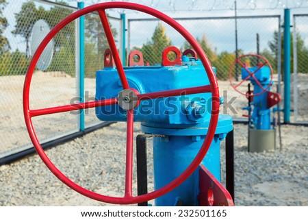 Gas control valve - stock photo
