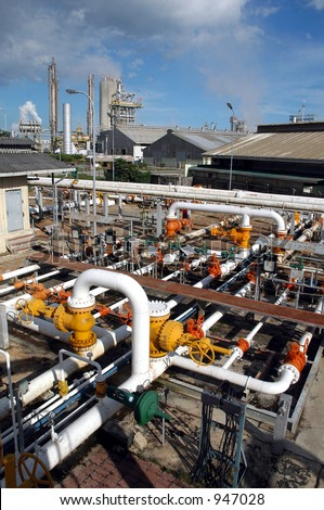 Gas Distribution center in Bontang, Kalimantan, Indonesia, Asia