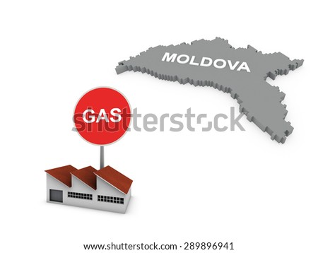 gas factory - moldova - stock photo
