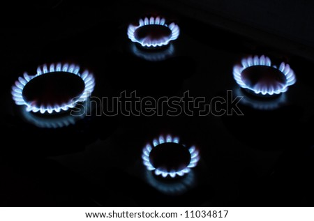 gas fire - stock photo