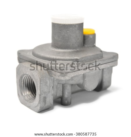gas fitting  - stock photo