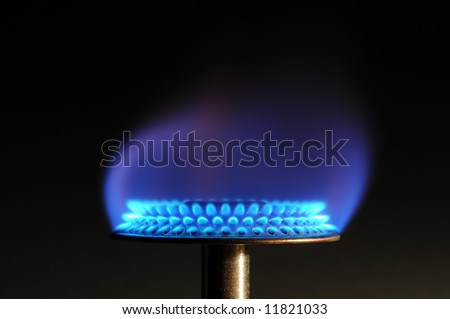 Gas flame - stock photo