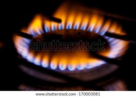 gas flame - stock photo