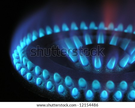 Gas flame ring 2 - stock photo