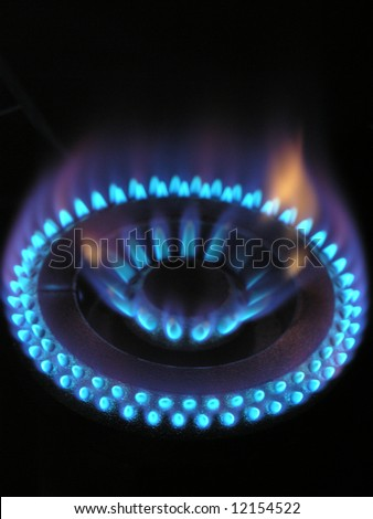 Gas flame ring 4 - stock photo