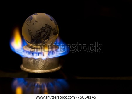 Gas flame with earth
