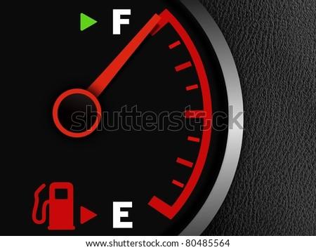 Gas full meter - stock photo