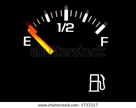 gas gauge - stock photo