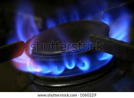 gas hob - stock photo