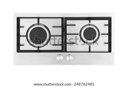 Gas hob isolated on white