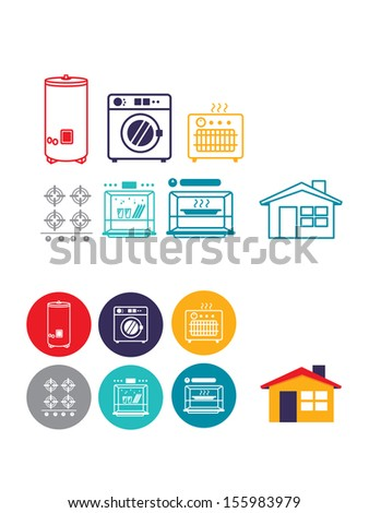 Gas machines and home icon