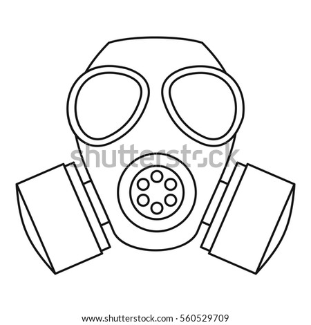 how to draw skull with gas mask