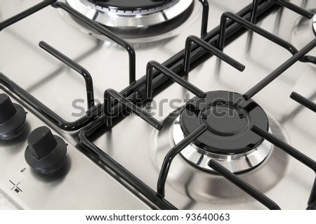 Gas oven ring - stock photo