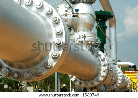 Gas pipe - stock photo
