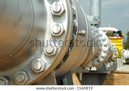 Gas pipeline - stock photo