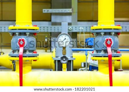 Gas pipeline - stock photo