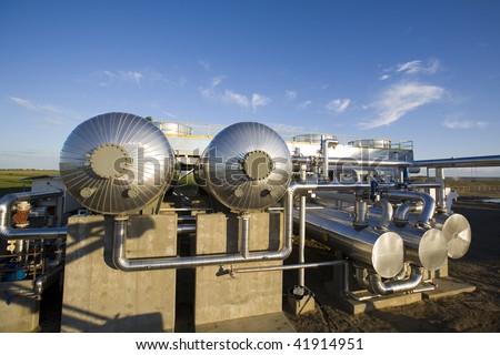 Gas pipeline compression equipment - stock photo