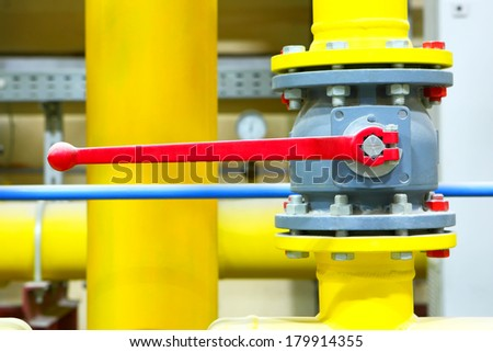 Gas pipeline of a high pressure. - stock photo