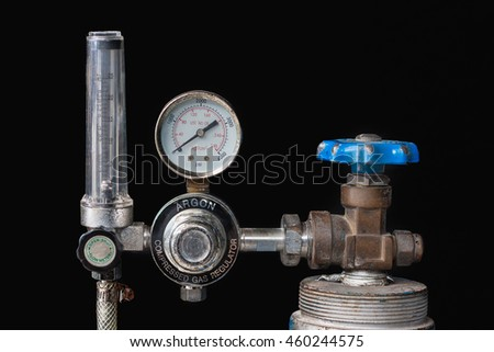 Gas pressure regulator . isolated background