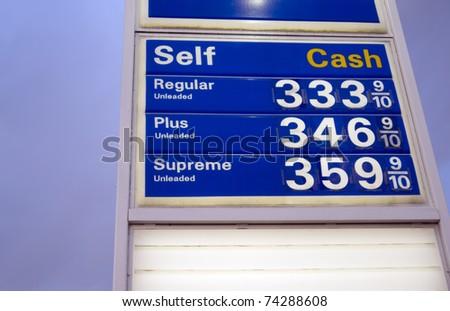 gas prices - stock photo
