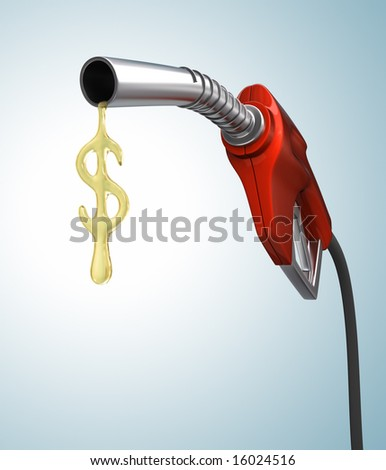 Gas Prices. Drop of gas in the format of the dollar sign. - stock photo