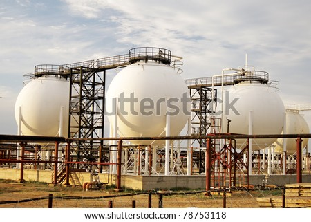 Gas Processing Plant. - stock photo