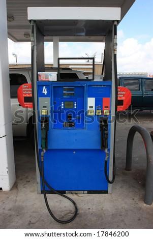 Gas pump. - stock photo