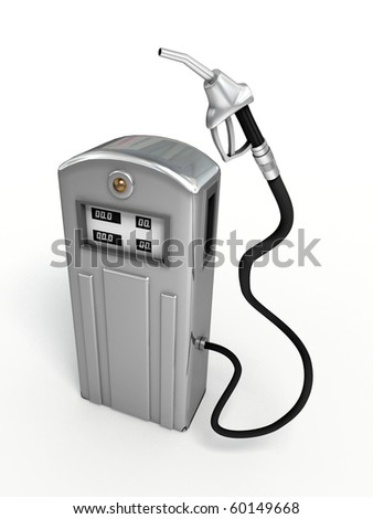 Gas pump. - stock photo