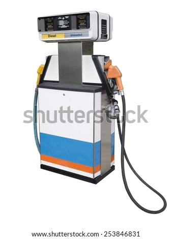 Gas pump, isolated  - stock photo